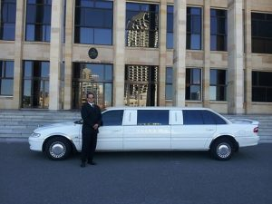 white limousine with Expedient Limo